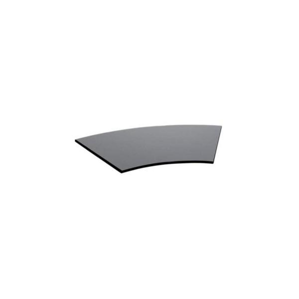 Поднос для сервировки изогнутый Zeiher из чёрного стекла 375*620 мм
