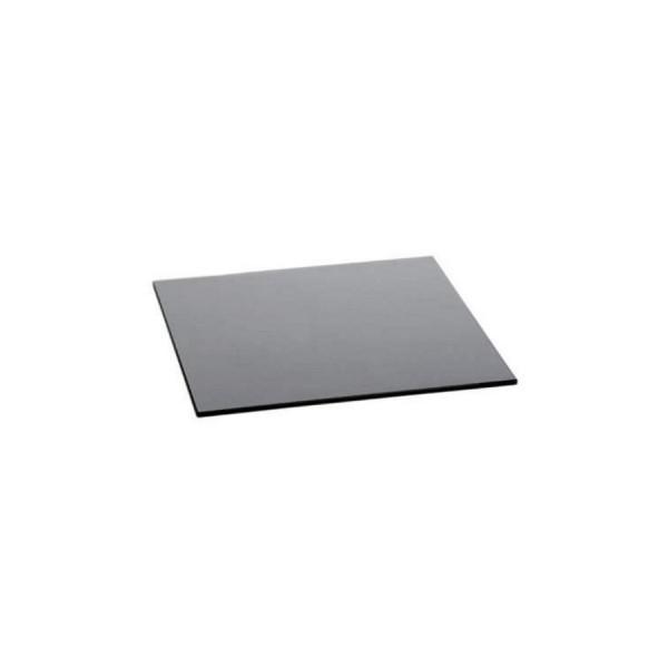 Поднос квадратный Zeiher из чёрного стекла 420*420 мм