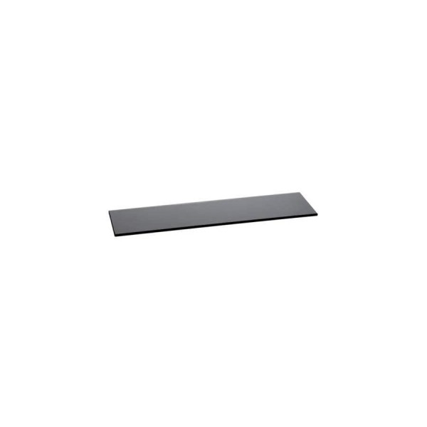 Поднос прямоугольный Zeiher из чёрного стекла 800*210 мм