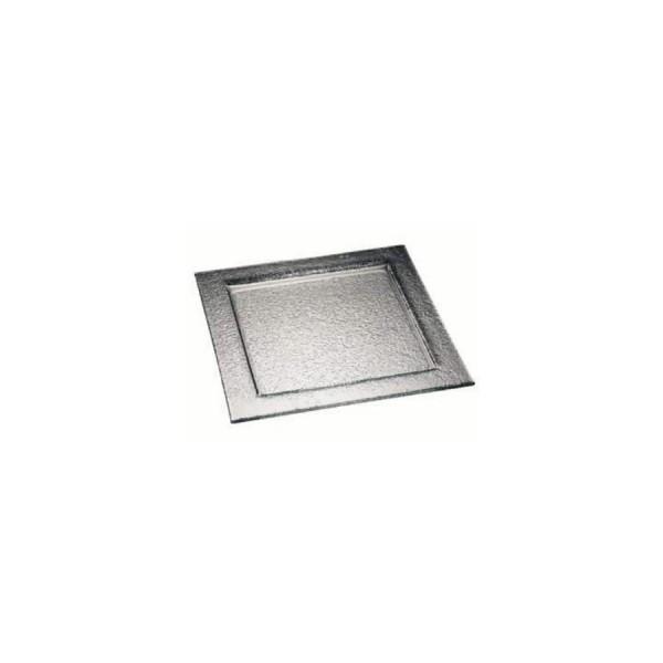 Тарелка квадратная Zeiher из тонированного стекла 500*500 мм